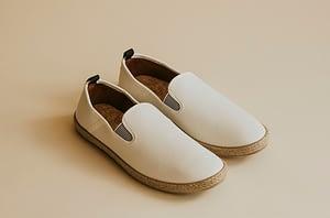 white slip-ons